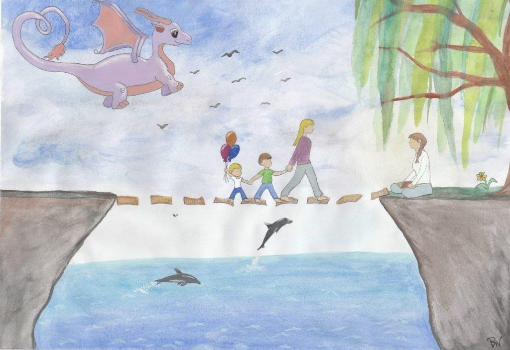 Geschichten♡Werk♡Stadt-Kursen bekommen die Kinder von mir selbstzusammengesetzte Geschichten
